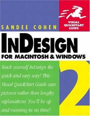 Cover of: InDesign 2 for Macintosh and Windows | Sandee Cohen