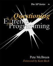 Cover of: Questioning Extreme Programming