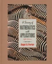 Cover of: A survey of mathematics with applications | Allen R. Angel