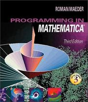 Cover of: Programming in Mathematica | Roman Maeder