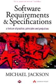 Cover of: Software requirements & specifications