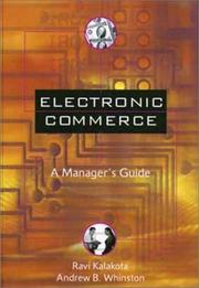 Cover of: Electronic commerce