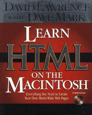 Cover of: Learn HTML on the Macintosh