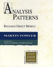 Cover of: Analysis Patterns | Martin Fowler