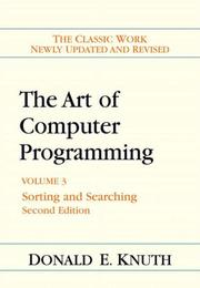 Cover of: Art of Computer Programming, Volume 3