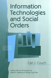 Cover of: Information Technologies and Social Orders (Communication and Social Order)