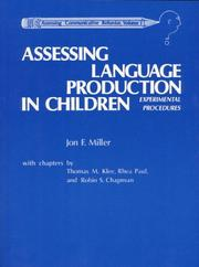 Cover of: Assessing Language Production in Children | Jon F. Miller
