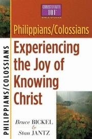 Cover of: Philippians/Colossians | Bruce Bickel