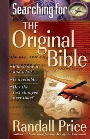 Cover of: Searching for the Original Bible