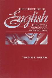Cover of: The Structure of English