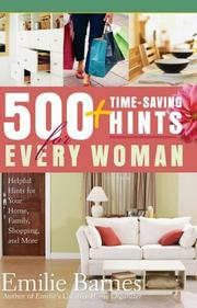 Cover of: 500 Time-Saving Hints for Every Woman: Helpful Tips for Your Home, Family, Shopping, and More