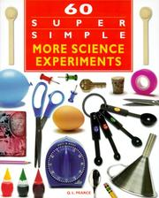 Cover of: 60 super simple more science experiments