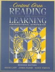 Cover of: Content Area Reading and Learning | Diane Lapp