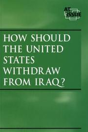 Cover of: How Should the United States Withdraw from Iraq? | Neal J. Pozner