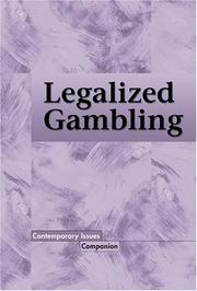 Cover of: Legalized Gambling
