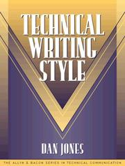 Cover of: Technical writing style | Jones, Dan