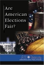 Cover of: Are American Elections Fair?