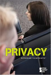 Cover of: Privacy (Opposing Viewpoints) |