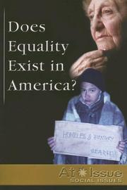 Cover of: Does Equality Exist in America?