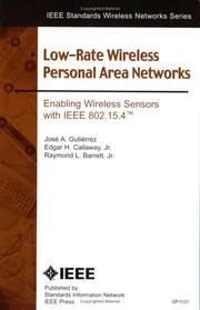 IEEE 802.15.4 Low-Rate Wireless Personal Area Networks