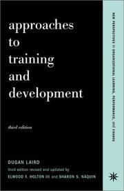 Cover of: Approaches to training and development