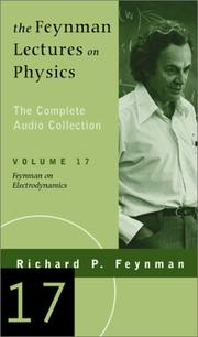 Cover of: Feynman on Electrodynamics (The Feynman Lectures on Physics, Volume 17) |