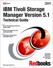 Cover of: IBM Tivoli storage manager, version, 5.1 technical guide |