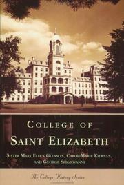 Cover of: College  of  St.  Elizabeth   (NJ)  (College  History  Series) | Mary  Ellen  Gleason