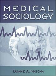 Cover of: Medical Sociology