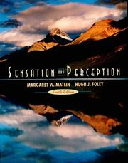 Cover of: Sensation and perception