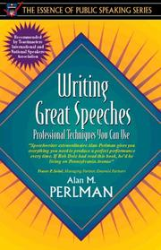 Writing great speeches by Alan M. Perlman
