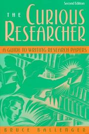 Cover of: Curious Researcher, The