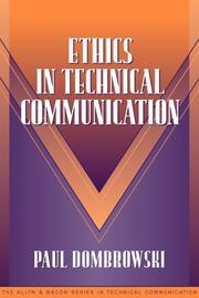Cover of: Ethics in Technical Communication (Part of the Allyn & Bacon Series in Technical Communication)