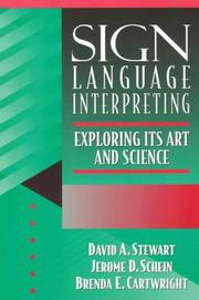 Cover of: Sign language interpreting