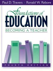 Cover of: Foundations of education
