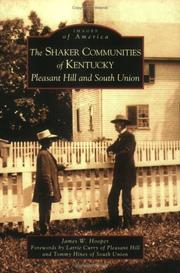 Cover of: Shaker  Communities  of  Kentucky | James  W.  Hooper
