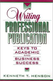 Cover of: Writing for Professional Publication