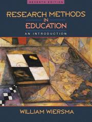 Cover of: Research methods in education | William Wiersma
