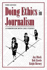 Cover of: Doing Ethics in Journalism | Jay Black