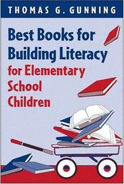 Cover of: Best books for building literacy for elementary school children