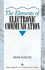 Cover of: The elements of electronic communication