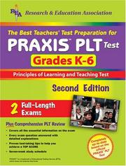 Cover of: PRAXIS PLT Grades K-6 (REA) - The Best Teachers