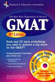 Cover of: GMAT w/CD-ROM 4th Ed. (REA) - The Best Test Prep & Review | Anita Price Davis