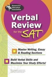 Cover of: Verbal Review for the SAT (REA) | Research and Education Association