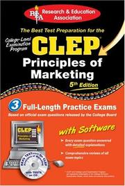 Cover of: CLEP Principles of Marketing w/ CD-ROM (REA) -The Best Test Prep for the CLEP (Test Preps) | James E. Finch