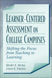 Cover of: Learner-centered assessment on college campuses