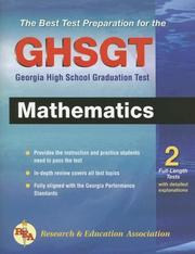 Cover of: Georgia GHSGT Math (REA) - The Best Test Preparation | Research and Education Association