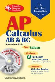 Cover of: AP Calculus AB/BC w/CD-ROM (REA) The Best Test Prep for AP Calculus AB ad BC with TESTware: Best Test Prep for (Best Test Preparation for the Advanced Placement Examination)