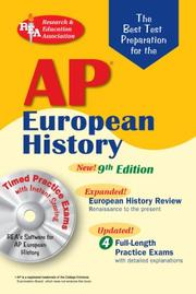 Cover of: AP European History w/CD-ROM (REA) The Best Test Prep: 9th Edition (Best Test Preparation for the Advanced Placement Examination) | M. W. Campbell