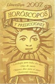 Cover of: 2007 Horoscopos Y Predicciones (Llewellyn